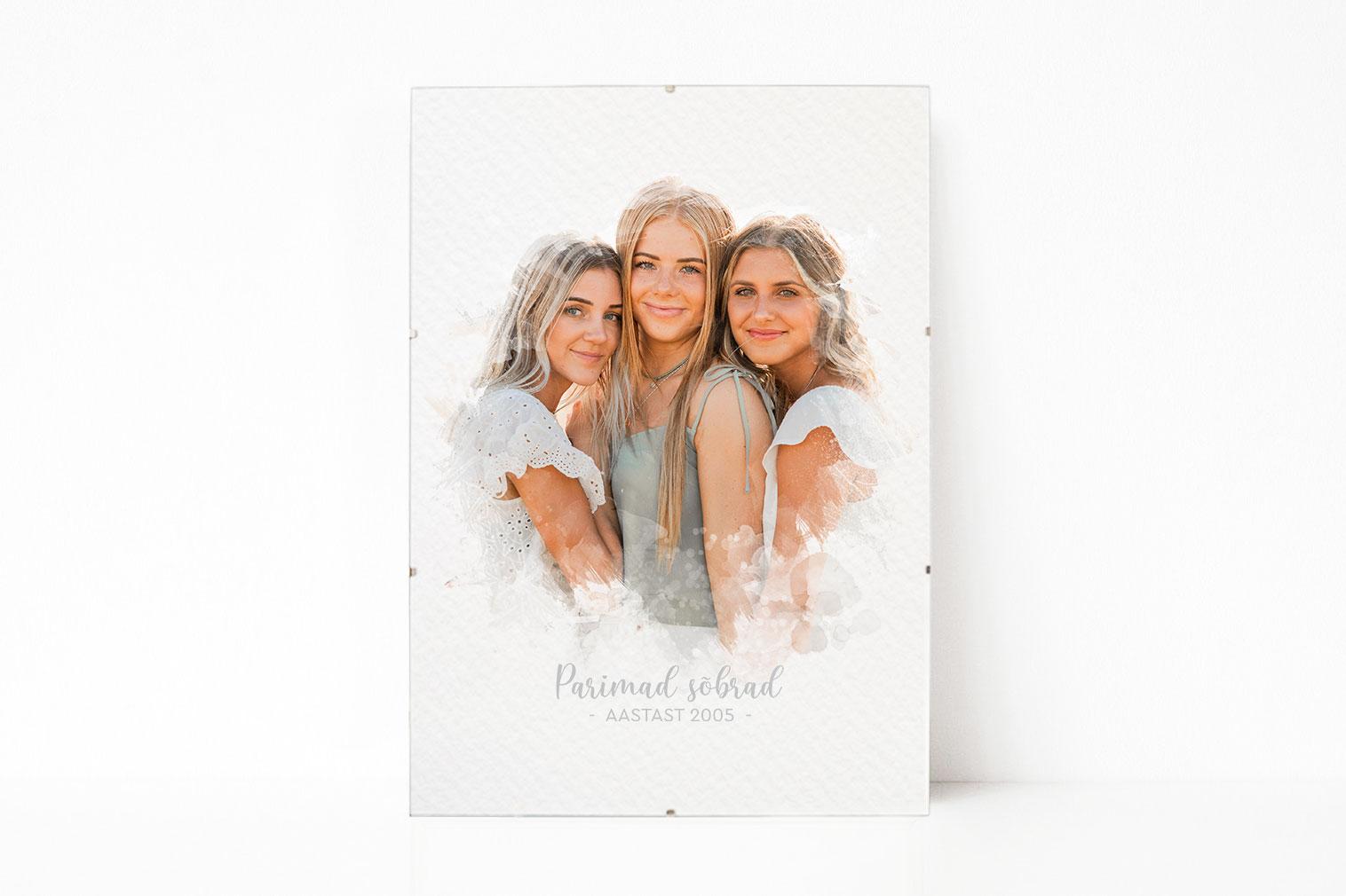 fotoposter parimad sõbrannad kingitus sõbrannale